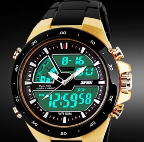 New Men Sports Watches Waterproof Fashion Casual Quartz Watch Digital & Analog Military Multifunctional Mens Sports Watches