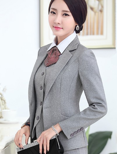 194b386a0d Women High Quality Suit Set Office Ladies Work Wear Women OL Pant Suits  Formal Female Blazer Jacket Vest trousers 3 Pieces