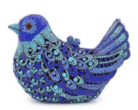 Fashion Women Luxury Crystal Clutches Evening Bag Colourful Bird Shape Wedding Clutch Purse Diamonds Party Handbags