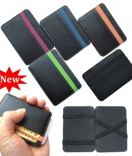 New arrival High quality PU leather magic wallets men fashion designer purses retail and wholesale