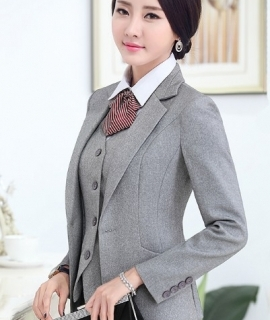 Women High Quality Suit Set Office Ladies Work Wear Women OL Pant Suits Formal Female Blazer Jacket Vest trousers 3 Pieces