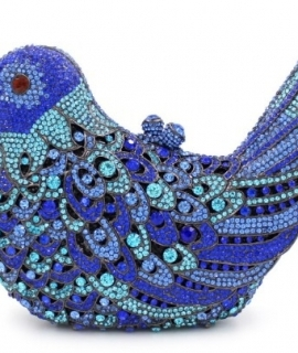 Fashion Women Luxury Crystal Clutches Evening Bag Colourful Bird Shape Wedding Clutch Purse Diamonds Party Handbags
